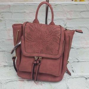 Tillys Mini Floral Rust Bagpack